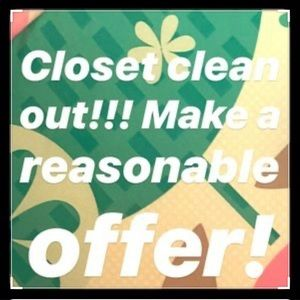 Taking all reasonable Offers closet Clean Out